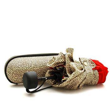 Ombrello Super Mini Borbonese Con Custodia Colore Rosso - Op Naturale