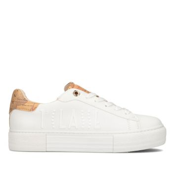 Sneakers Donna 1A Classe Alviero Martini colore Bianco con Logo Bianco 10876
