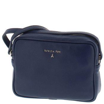 Borsa Donna a Tracolla PATRIZIA PEPE in Pelle colore Dress Blue 2V8985