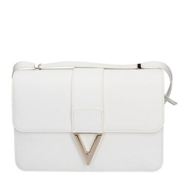 Borsa Donna a Tracolla VALENTINO BAGS linea Penelope Colore Bianco misura Grande