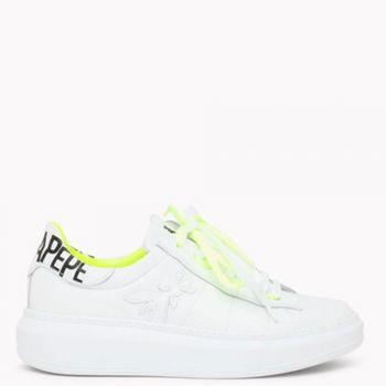 Sneakers Donna PATRIZIA PEPE in Pelle colore Bianco - Giallo