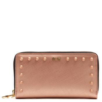 Portafoglio Donna Zip Around GUM linea Satin Stud color Nude