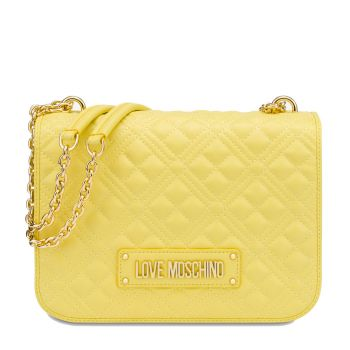 Borsa Donna a Spalla LOVE MOSCHINO linea New Shiny Quilted Giallo