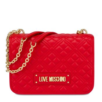Borsa Donna a Spalla LOVE MOSCHINO linea New Shiny Quilted Rosso
