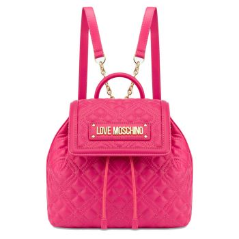 Zaino LOVE MOSCHINO linea New Shiny Quilted Fuxia