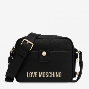 Borsa Donna a Tracolla LOVE MOSCHINO con Logo e Borchie colore Nero
