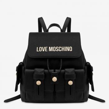 Zaino Donna con Pattina LOVE MOSCHINO Nero con Logo e Borchie