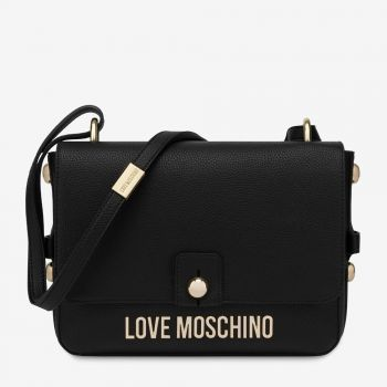 LOVE MOSCHINO Black Shoulder Bag with Studs JC4022