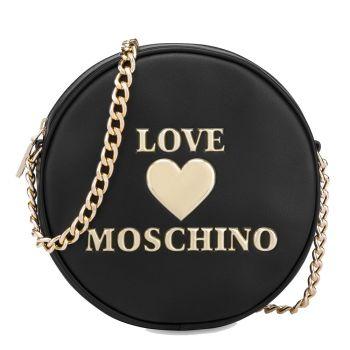 Borsa Donna Tonda a Tracolla LOVE MOSCHINO linea Padded Heart Nero