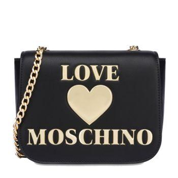 Borsa Donna a Tracolla LOVE MOSCHINO linea Shiny Padded Heart Nero