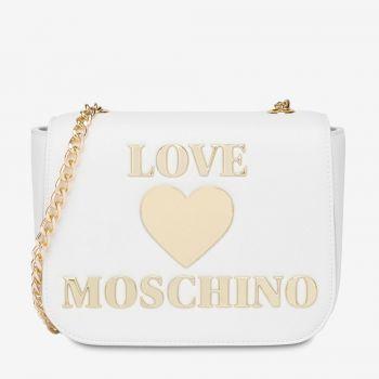 Borsa Donna a Tracolla LOVE MOSCHINO linea Shiny Padded Heart Bianco
