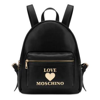 Zaino Donna con Zip LOVE MOSCHINO linea Padded Heart Nero