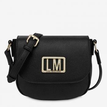 Borsa Donna a Tracolla con Pattina LOVE MOSCHINO con Logo LM colore Nero