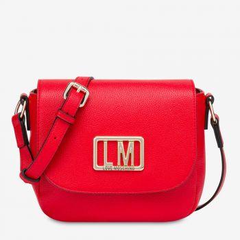 Borsa Donna a Tracolla con Pattina LOVE MOSCHINO con Logo LM Rosso