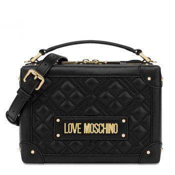 Borsa Donna Bauletto Rigido a Mano LOVE MOSCHINO linea New Shiny Quilted Nero