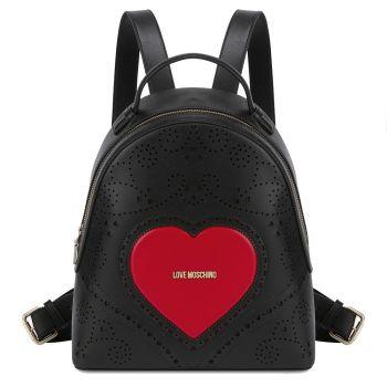 Zaino Donna LOVE MOSCHINO linea Heart Embroidery Nero