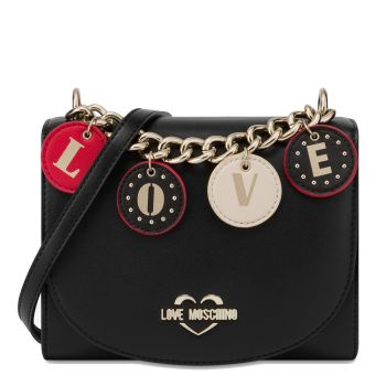 Borsa Donna a Tracolla LOVE MOSCHINO linea Lovely Charms Nera