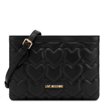 Borsa Donna a Tracolla LOVE MOSCHINO linea Heart Quilting Nero