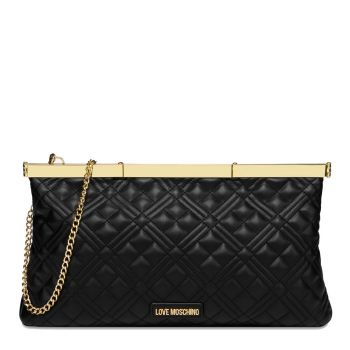 Maxi Clutch Donna LOVE MOSCHINO linea New Shiny Quilted Nero