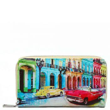 Portafoglio Donna Y NOT POP-361 Cuba- Chiusura Zip Around