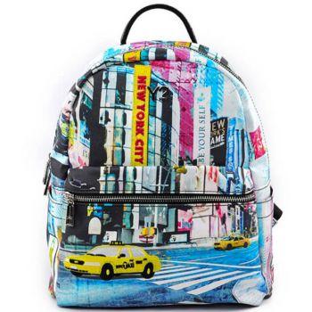 Zaino Donna Piccolo Y NOT con Tasca Esterna POP-380 New York