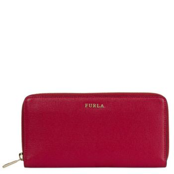 Portafoglio Furla Zip Around in Pelle Color Ruby Linea Babylon XL
