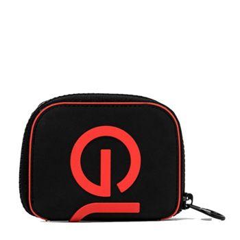 Portafoglio Donna Piccolo Zip Around GUM linea Silicon colore Nero - Rosso