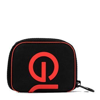 Beauty Case Pieghevole Zip Around GUM linea Silicon colore Nero-Rosso