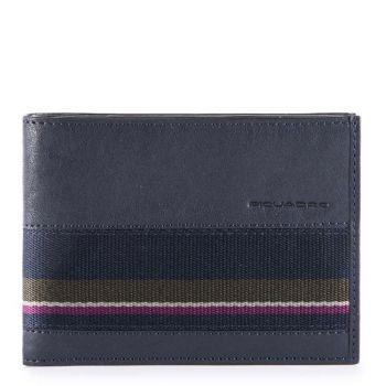 Portafoglio Uomo con Pattina PIQUADRO  in Pelle Blu - PU1392B3SR con protezione RFID