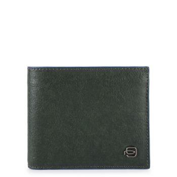 Portafoglio Uomo Piquadro In Pelle Verde con Pattina e Portamonete - PU4518B2SR linea Blue Square Special