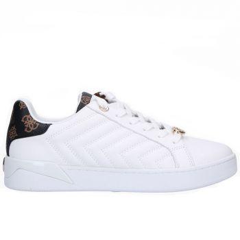 Scarpe Donna GUESS Sneakers Linea Racheel Colore Bianco e Marrone