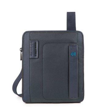 PIQUADRO Pulse Line – Blue Fabric Crossbody Bag With iPad®Air/Air2 Compartment CA1358P16