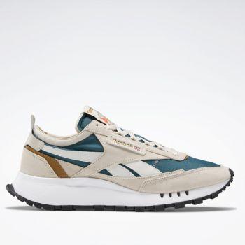 Scarpe Uomo REBOOK Sneakers linea CL Legacy colore Stucco e Verde