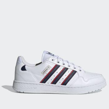Scarpe ADIDAS Sneakers linea NY 90 Stripes in Pelle Bianco Blu e Rosso