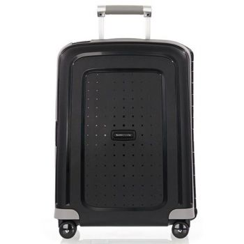 Trolley Cabina Rigido 4 Ruote 55cm - Samsonite S'Cure Nero