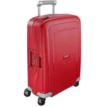 Trolley Cabina Rigido 4 Ruote 55cm - Samsonite S'Cure Crismon Red