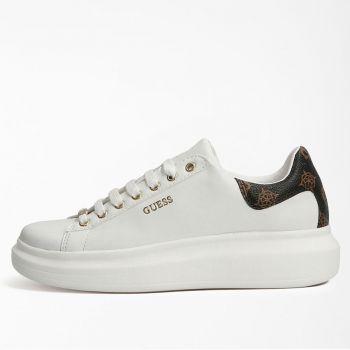 Scarpe Donna GUESS Sneakers di colore Bianco e Marrone Linea Salerno