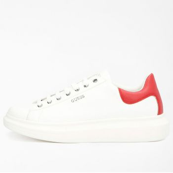 GUESS Salerno Line – White and Red Sneakers for Men