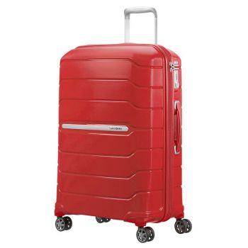 SAMSONITE Trolley Hard Shell Medium Size 4 Wheels 68 cm Samsonite Flux Red Line