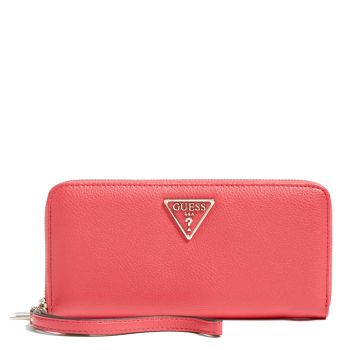 Portafoglio GUESS Zip Around Linea Sandrine colore Passion