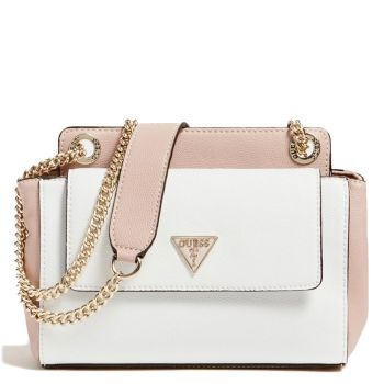 Borsa Donna a Spalla GUESS Linea Sandrine colore White Multi