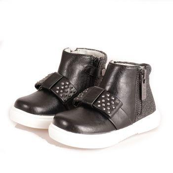 Scarpe Bambina LIU JO linea Sarah 27 Sneakers Alte Nere con Fiocco