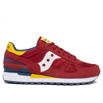 Scarpe Uomo Saucony Sneakers Shadow Original Red - Yellow - Blue