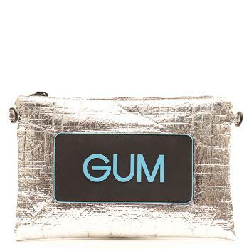 Pochette Donna GUM Numbers Media Linea Seasonless colore Argento - Azzurro
