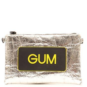 Pochette Donna GUM Numbers Media Linea Seasonless colore Argento - Giallo