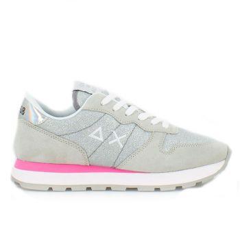 Scarpe Donna Sun68 Sneakers Ally Thin Glitter Colore Grigio Chiaro