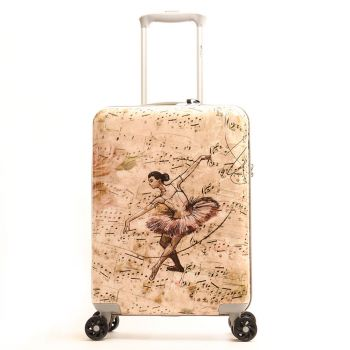 Trolley Cabina Y Not Ballet Rose Rigido 4 Ruote 2,5kg