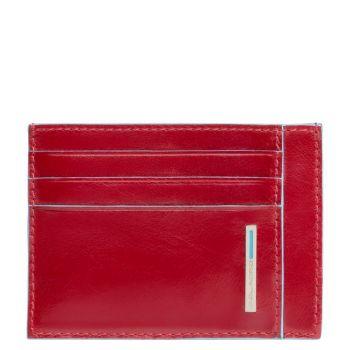 Porta Carte PIQUADRO In Pelle Rossa - PP2762B2R Linea Blue Square