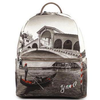 Zaino Donna Medio Y NOT con Tasca Esterna Linea YES YES-381 Venice Bridge