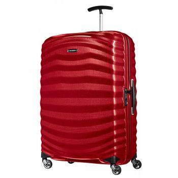 Trolley Grande 75cm 4 Ruote Rigido Leggero 2,5kg Samsonite Lite-Shock Chili Red